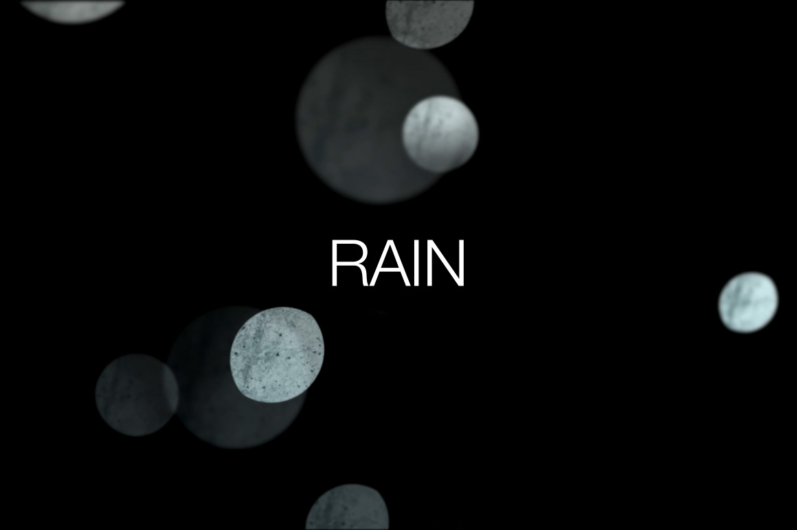 rain bokeh video overlays