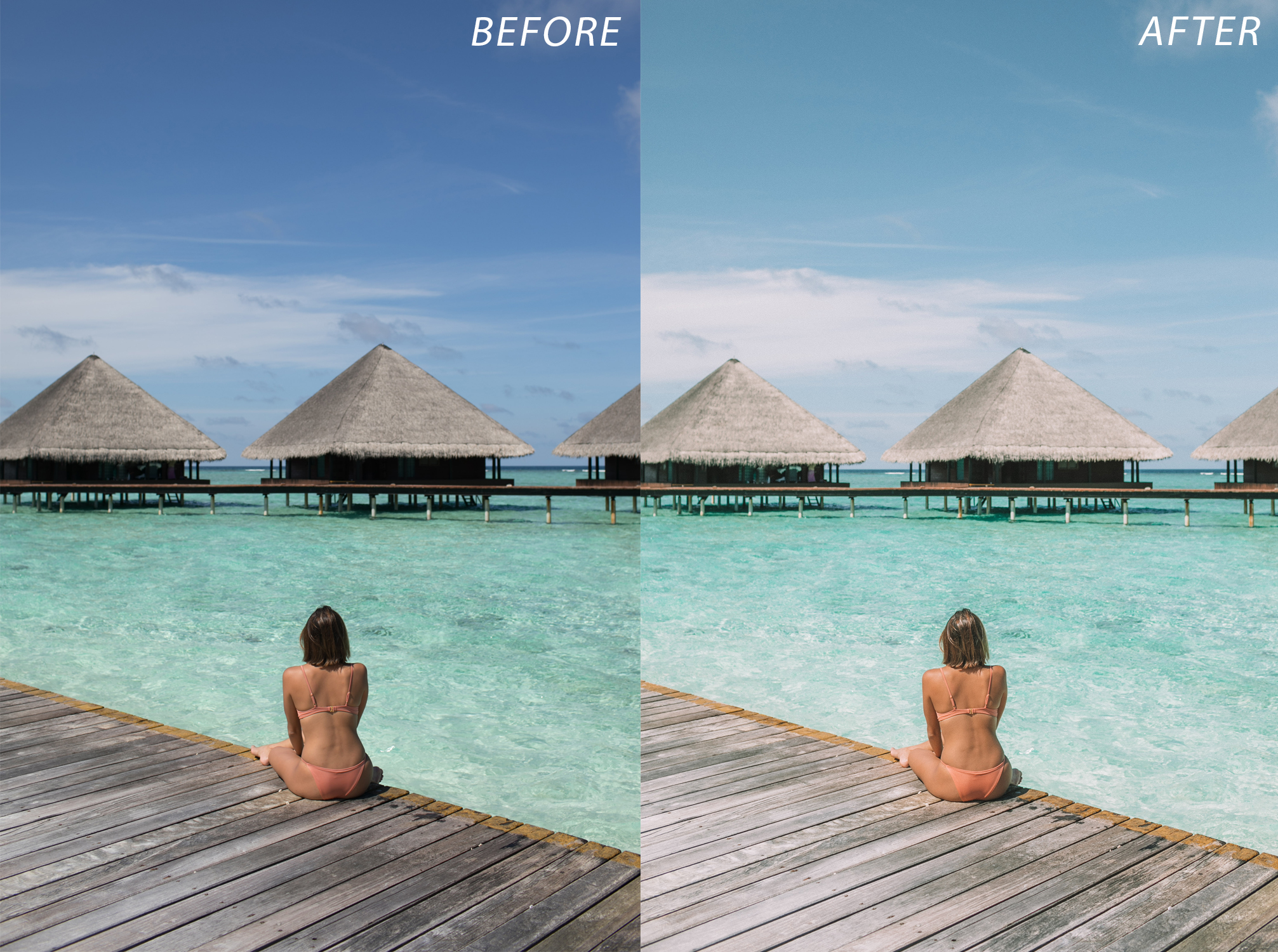 1 Escape Journal Maldives Lightroom Presets - FilterGrade