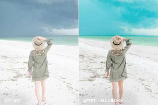 1 Blue Beach - Sweet Teal Blog Lightroom Presets - FilterGrade