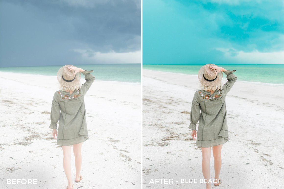 1 Blue Beach - Sweet Teal Blog Lightroom Presets - FilterGrade