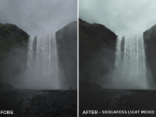 5 Skogafoss Light Mood - Christian Trustrup Lightroom Presets