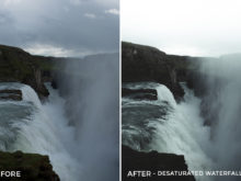 2 Desaturated Waterfall - Christian Trustrup Lightroom Presets