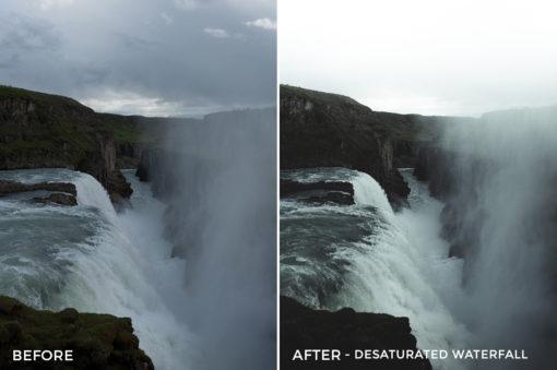 2 Desaturated Waterfall - Christian Trustrup Lightroom Presets