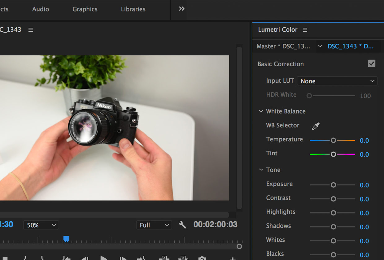 Import LUTs Lumetri Color Panel in Premiere Pro CC