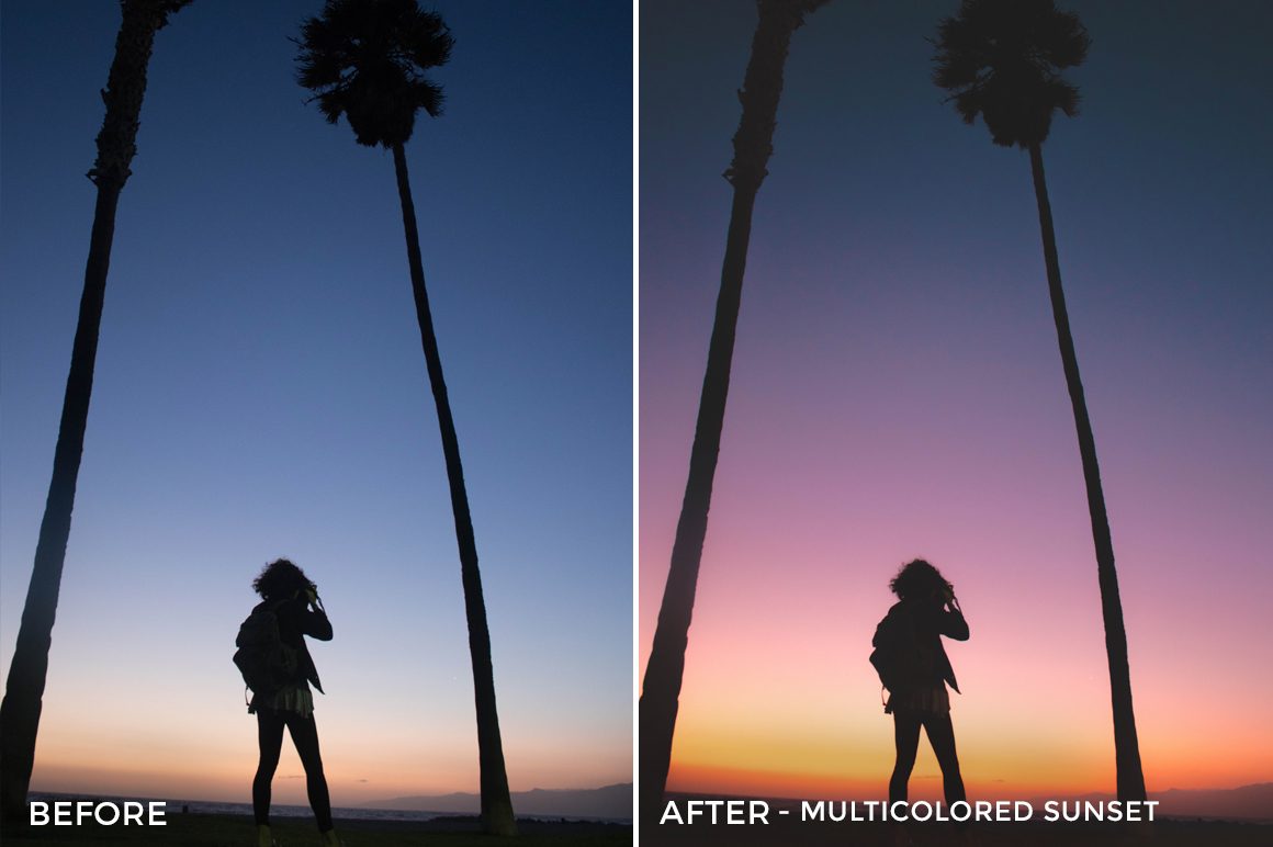 Multicolored Sunset - Stephanie Saias Lightroom Presets - FilterGrade