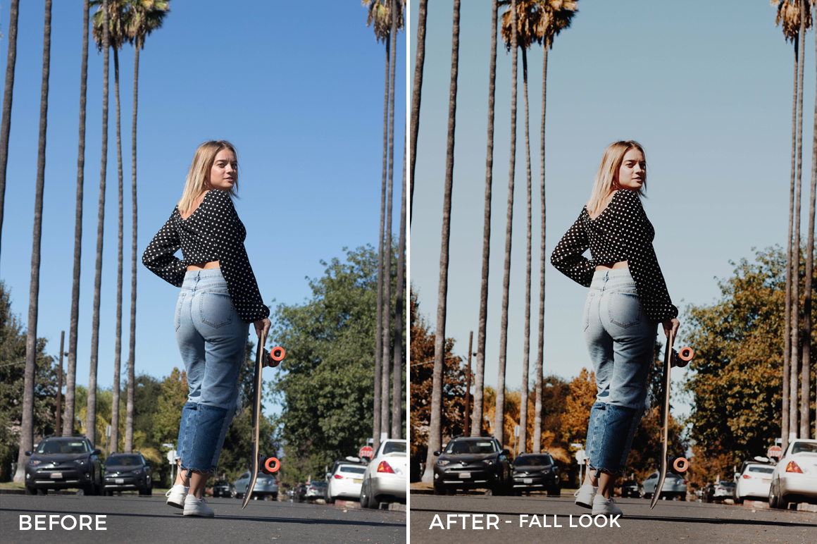 Fall Look - Stephanie Saias Lightroom Presets - FilterGrade