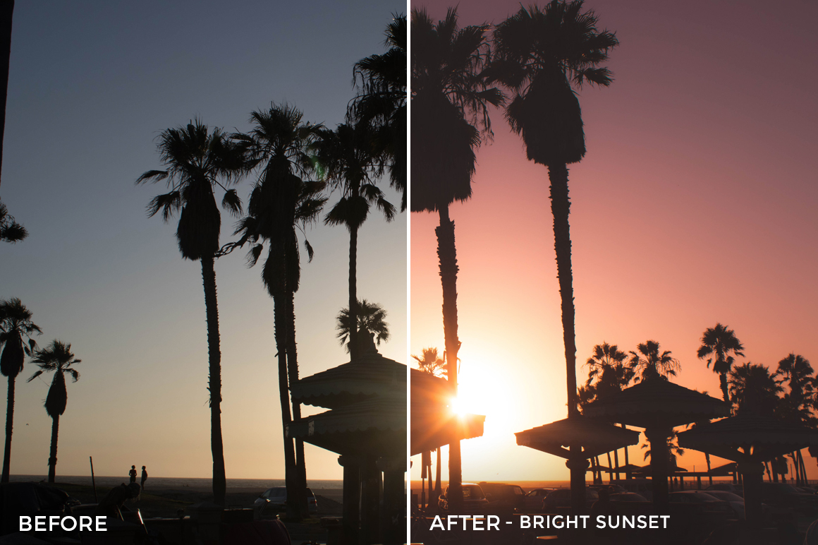 Bright Sunset - Stephanie Saias Lightroom Presets - FilterGrade