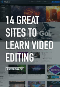 Learn video editing with these great websites and blogs!