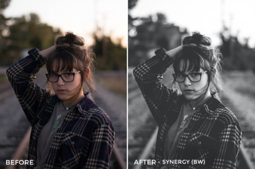 Synergy (BW) - Simplctyy Lightroom Presets - FilterGrade