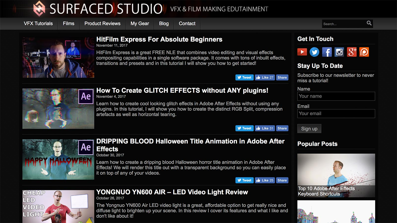 surfaced studio vfx tutorials