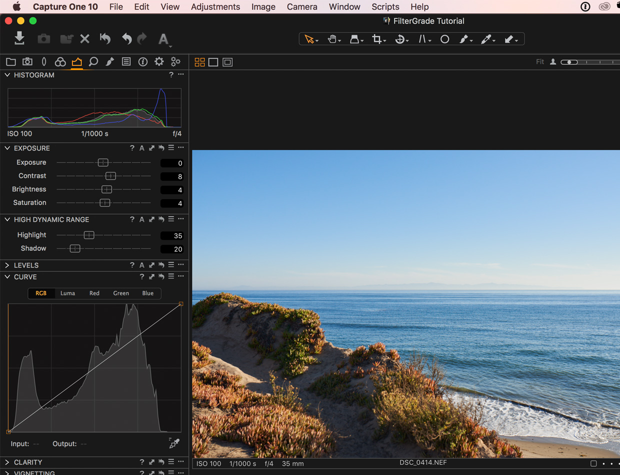 exposure adjustments in capture one pro