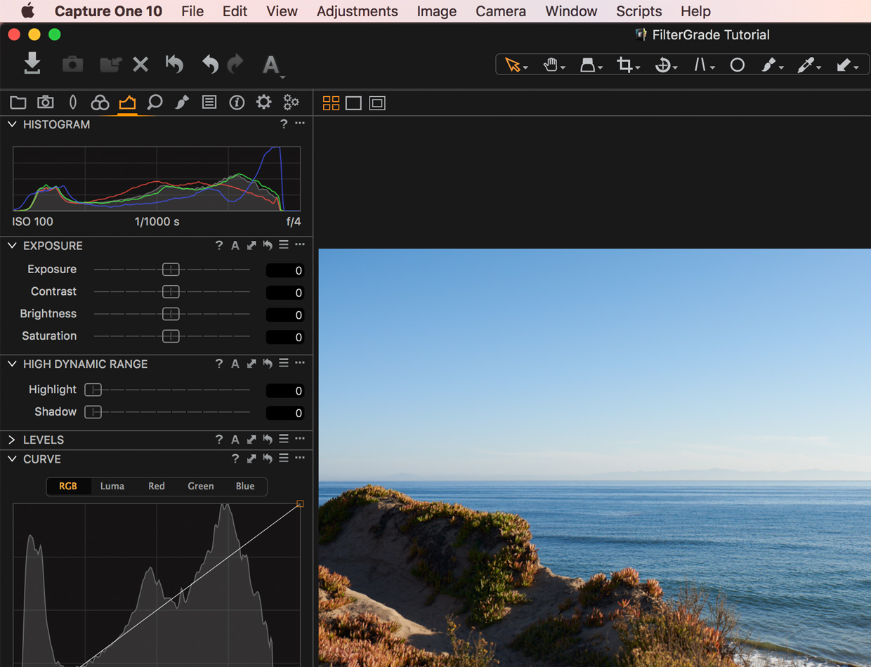 capture one pro exposure tab