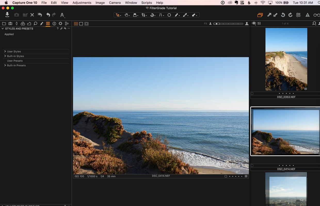 travel edit capture one pro