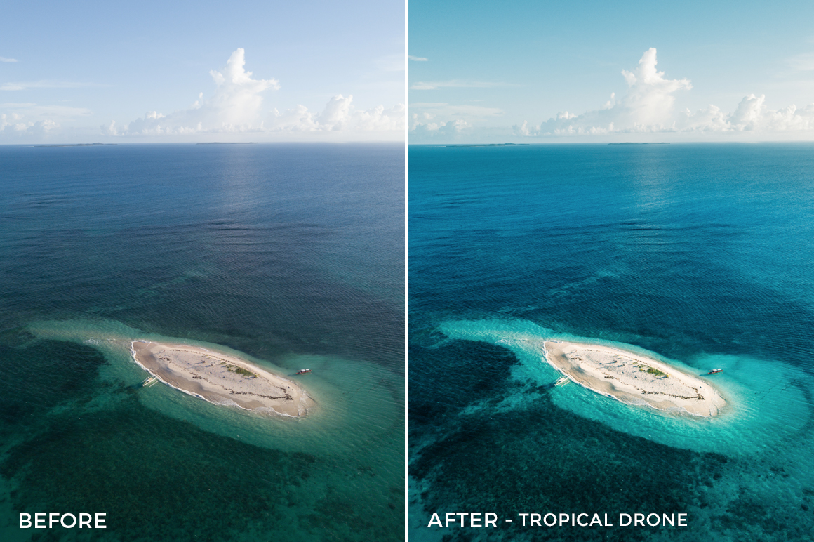 Tropical Drone - Jackson Groves Lightroom Presets - FilterGrade