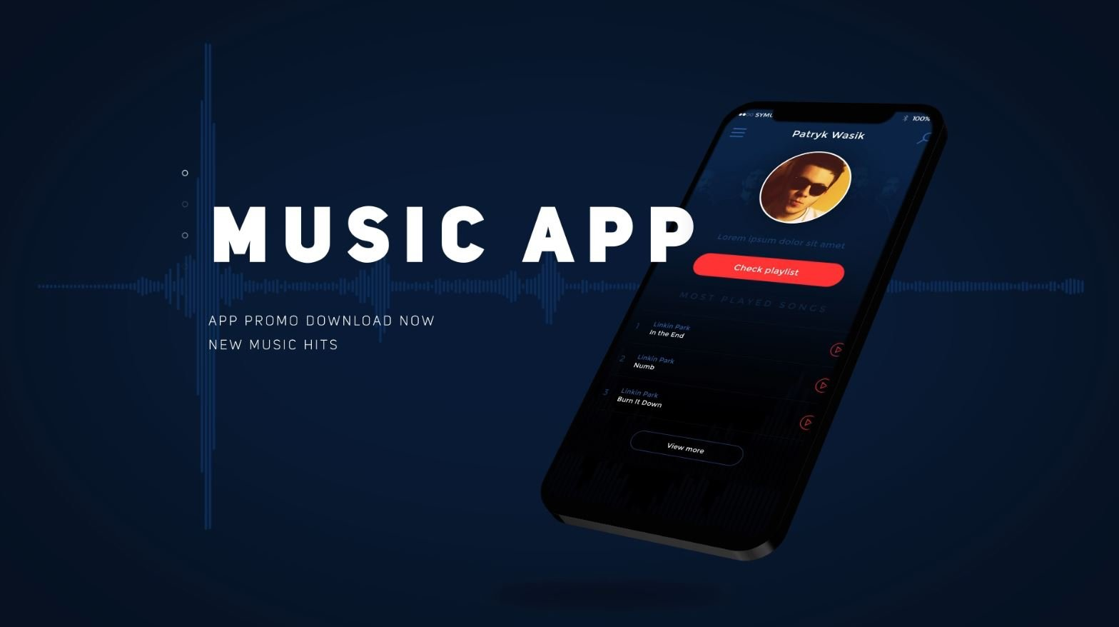 Music App Demo After Effects Template