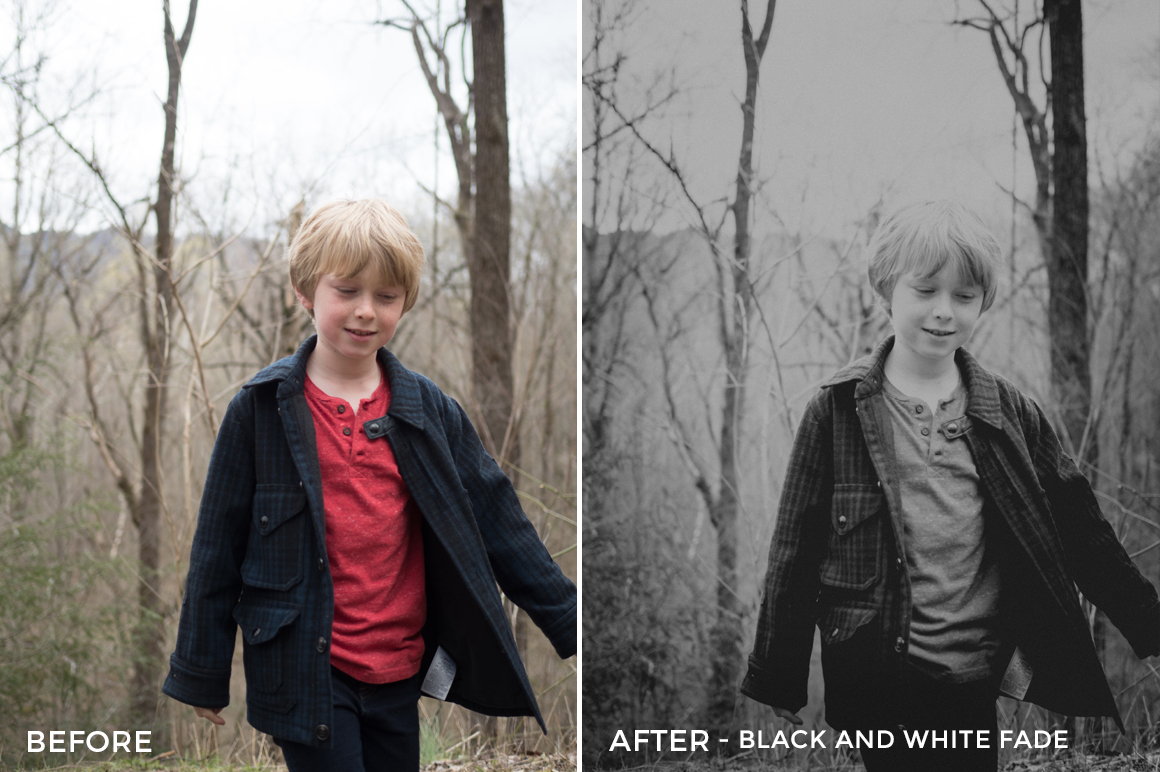 black and white fade - Will Milne Lightroom Presets - FilterGrade