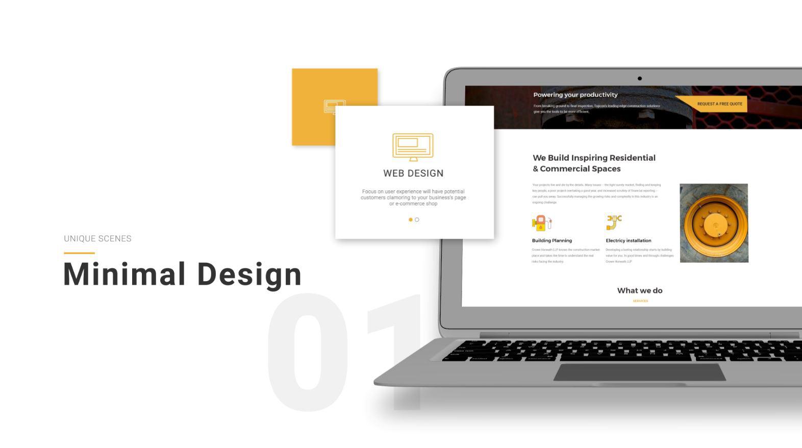 web design video presentation template
