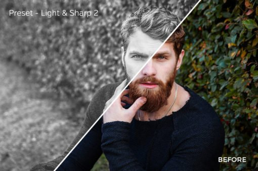 Light & Sharp 2 - Exposure Empire B&W Lightroom Presets - FilterGrade