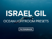Israel Gil custom Lightroom Presets for ocean freediving and underwater photography.