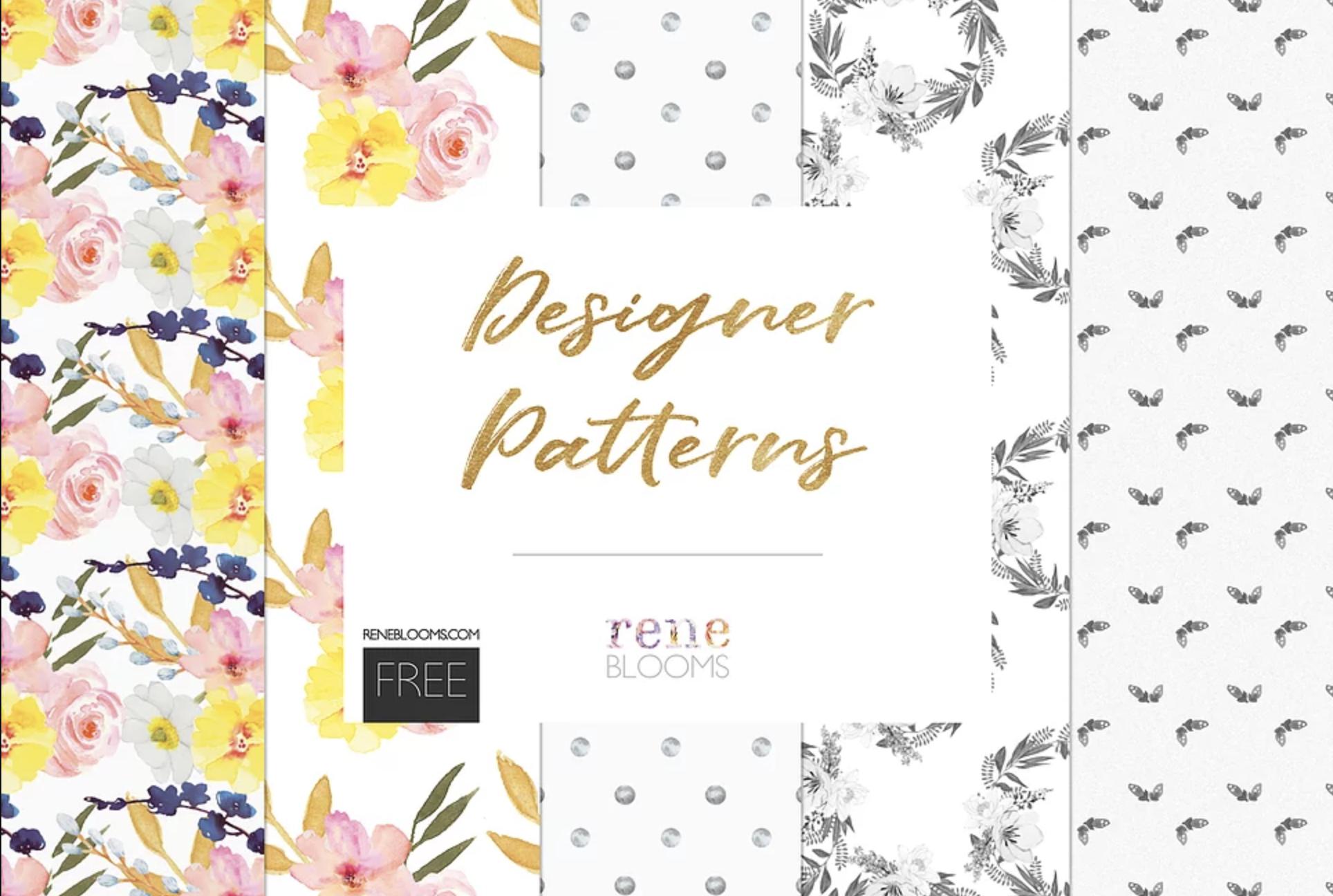 floral designer patterns freebie from rene blooms