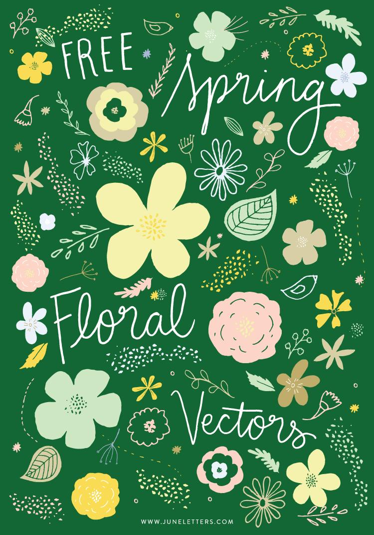 freebie spring floral vectors