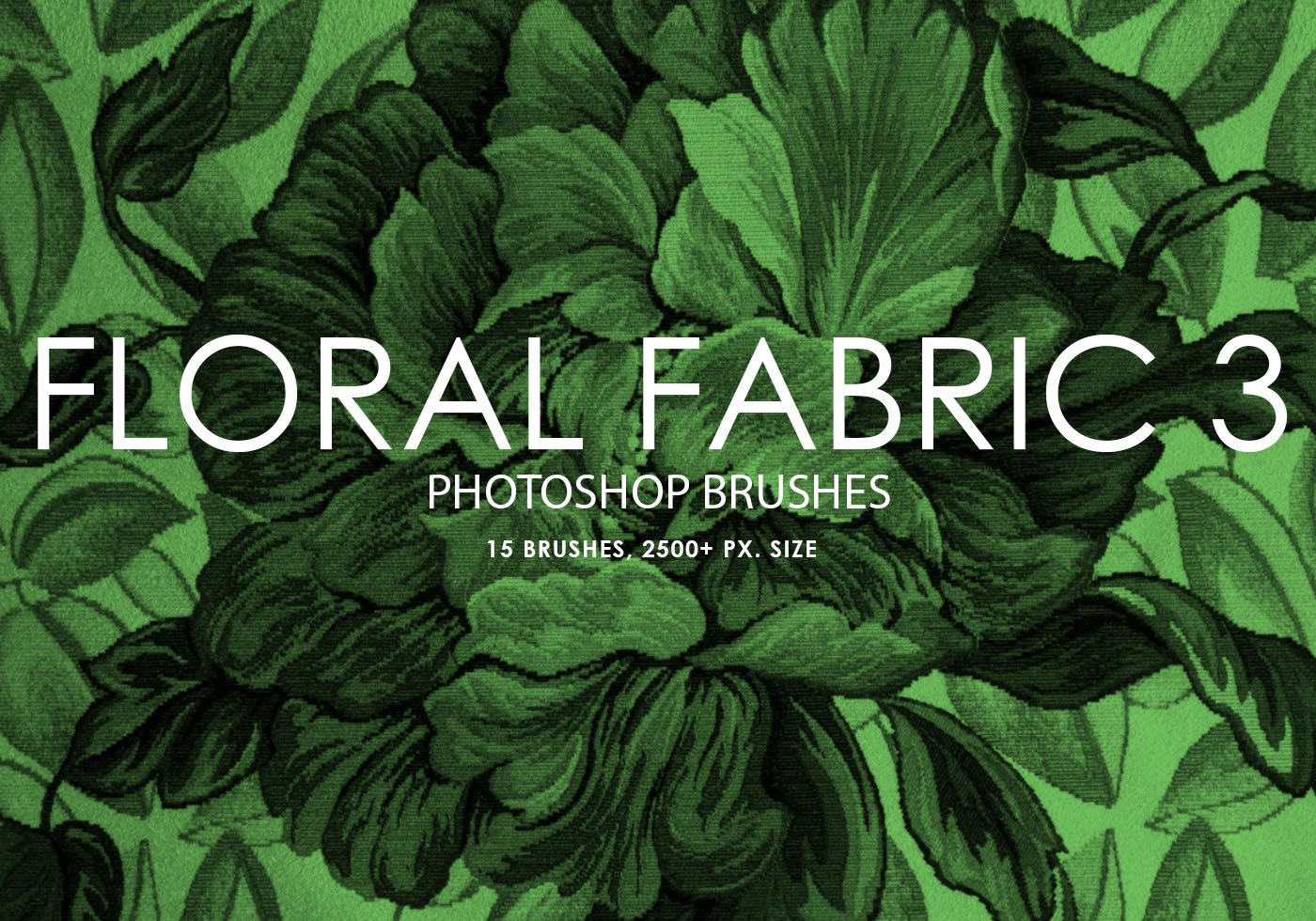 free floral fabric photoshop brushes