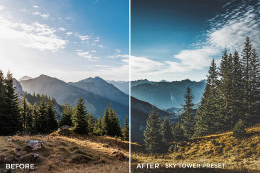Sky Tower Preset- Stephen Karg Xtravagant Essentials Lightroom Presets- FilterGrade