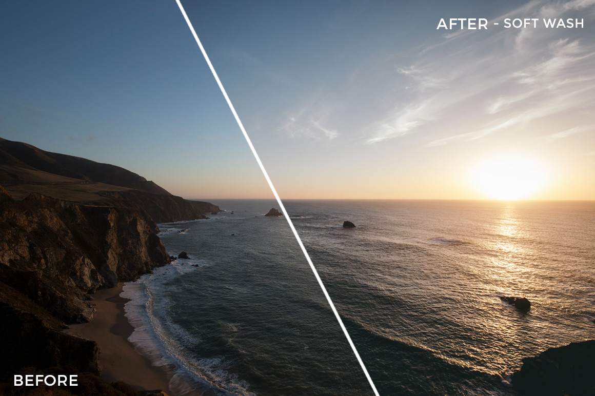 8 Soft wash - Kal Visuals Coastal Vibes Lightroom Presets - FilterGrade