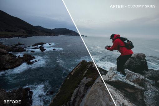 4 Gloomy SKies - Kal Visuals Coastal Vibes Lightroom Presets - FilterGrade