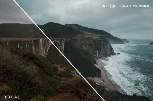 3 Foggy Mornings - Kal Visuals Coastal Vibes Lightroom Presets - FilterGrade