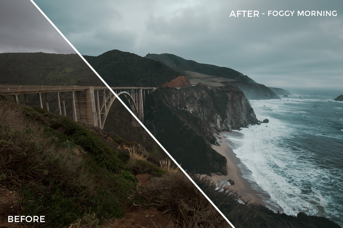 3 Foggy Mornings - Kal Visuals Coastal Vibes Lightroom Presets - FilterGrade