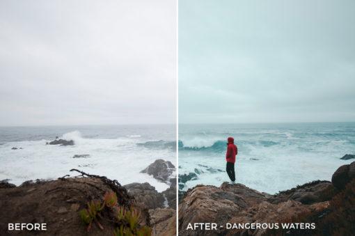 2 Dangerous Waters - Kal Visuals Coastal Vibes Lightroom Presets - FilterGrade