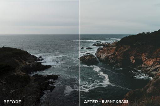 1 Burnt Grass - Kal Visuals Coastal Vibes Lightroom Presets - FilterGrade