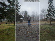 desaturate green lut