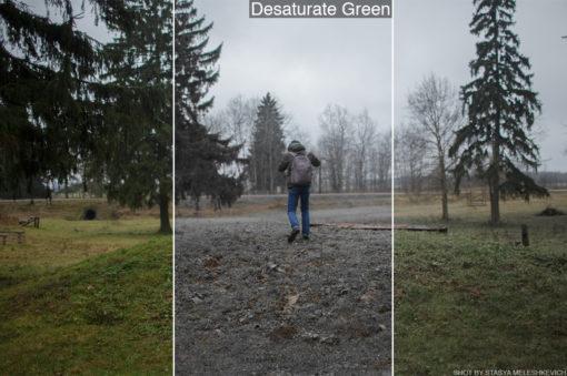 desaturate green lut