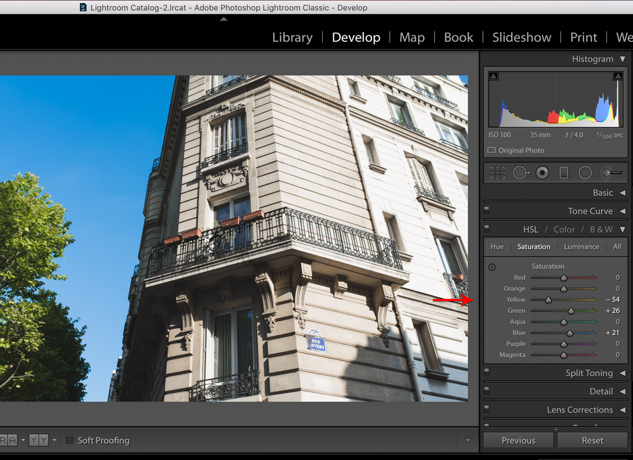 lightroom hsl settings