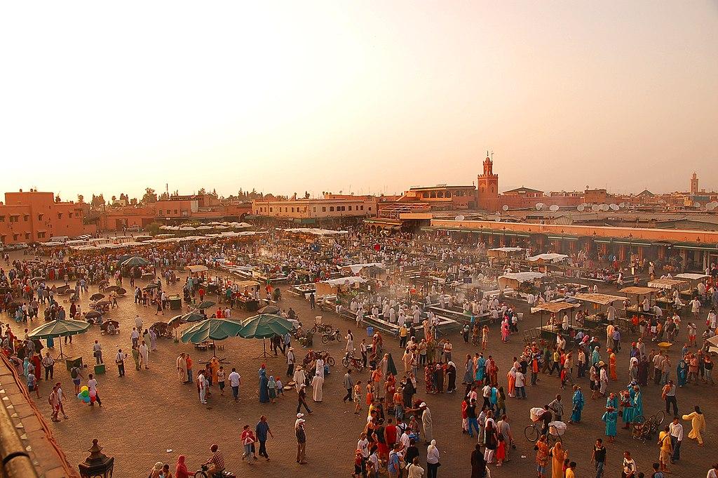 Marrakech city, Jemaa-el-Fna market