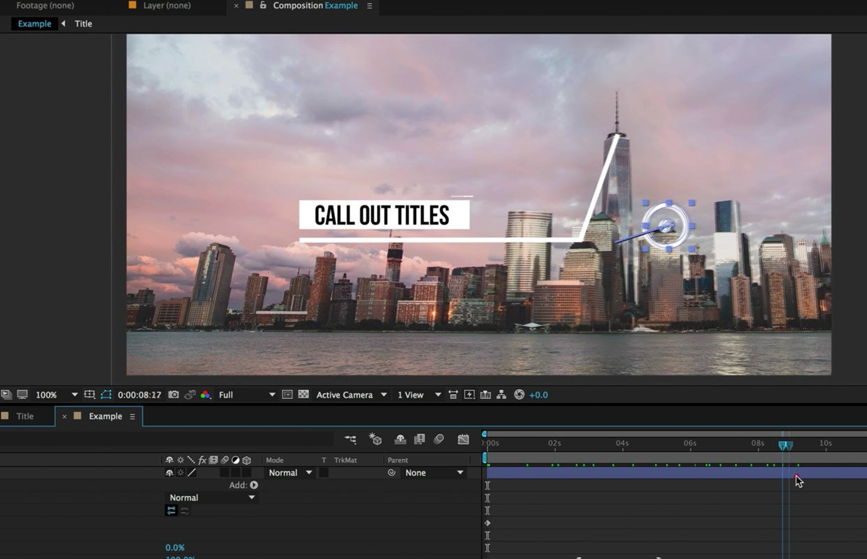 call out titles and motion tracking tutorial