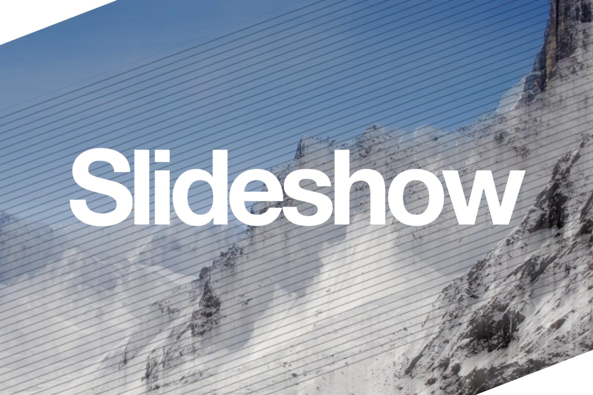 slideshow builder after effects template