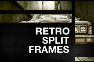 Retro Split Frame Slideshow Creator for After Effects