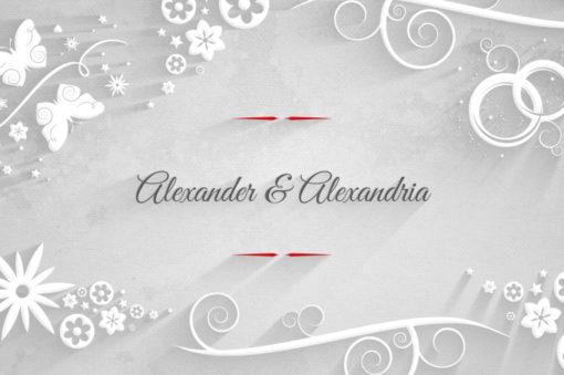 elegant wedding ae template