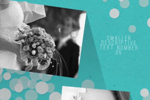 modern wedding slideshow video