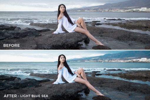 Light Blue Sea - Greta Larosa Lightroom Presets - FilterGrade
