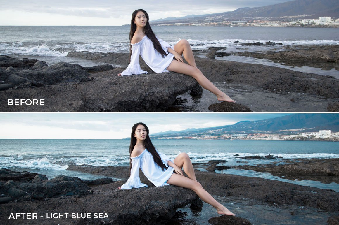 Light Blue Sea - Greta Larosa Lightroom Presets - FilterGrade