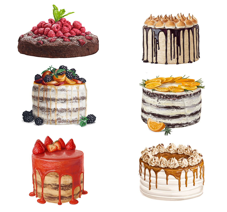natalka dmitrova cakes illustrations