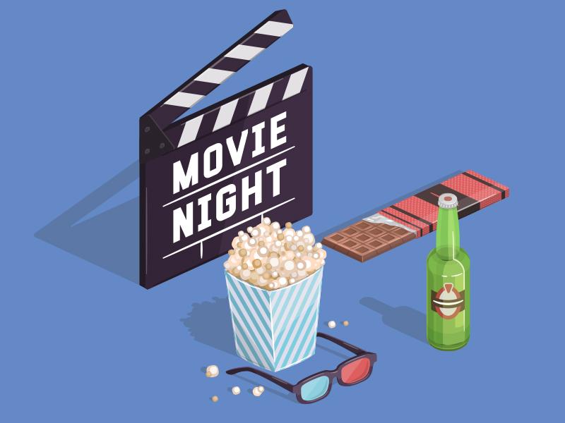 movie night illustration