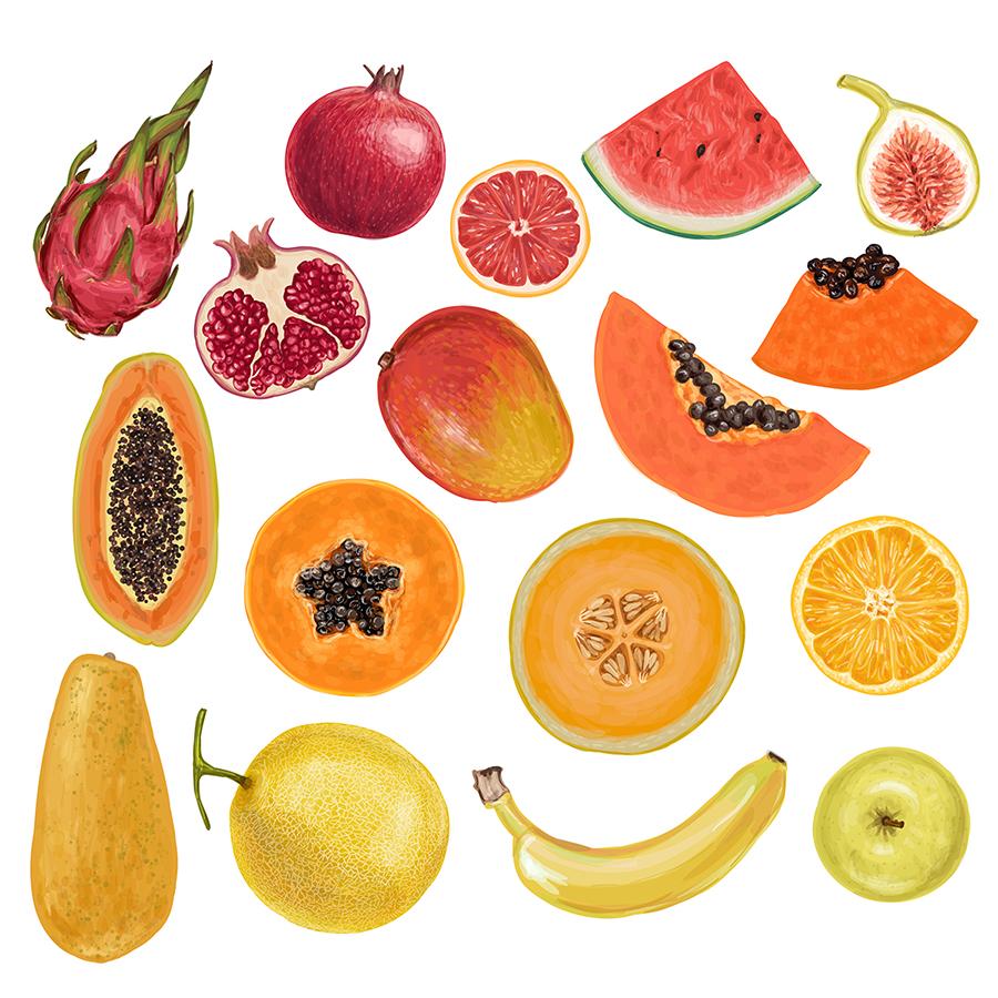 fruit rainbow natalka dmitrova
