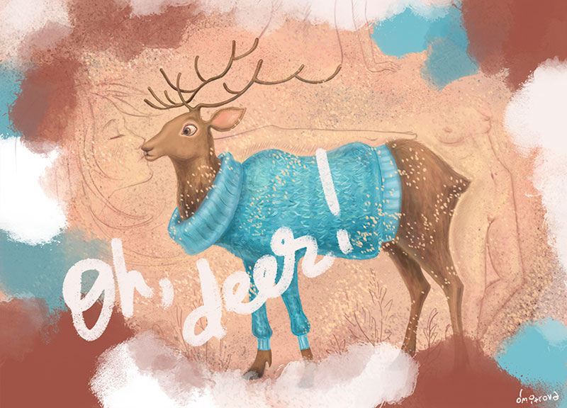 oh deer illustration natalka dmitrova