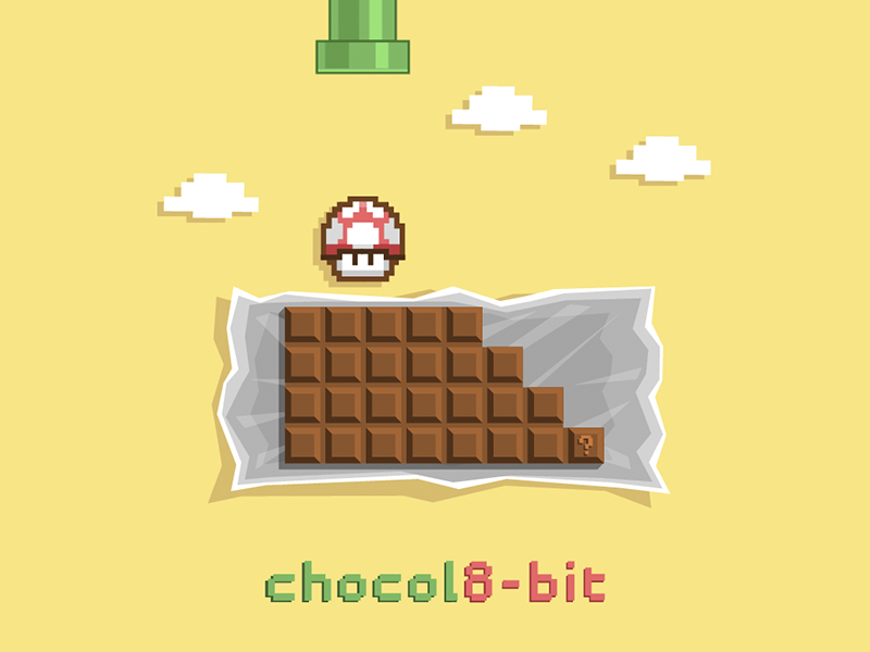 chocolate 8-bit illustration natalka dmitrova