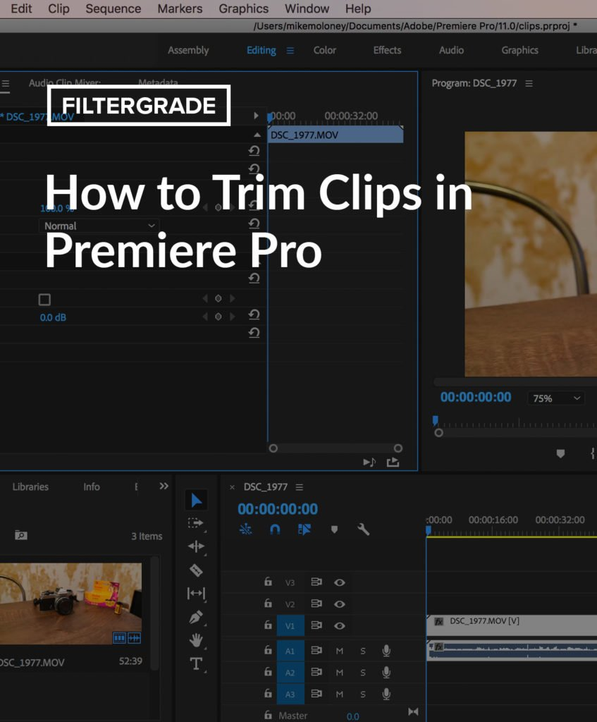 How to cut video in Premiere Pro. Learn about trimming clips and editing your footage.